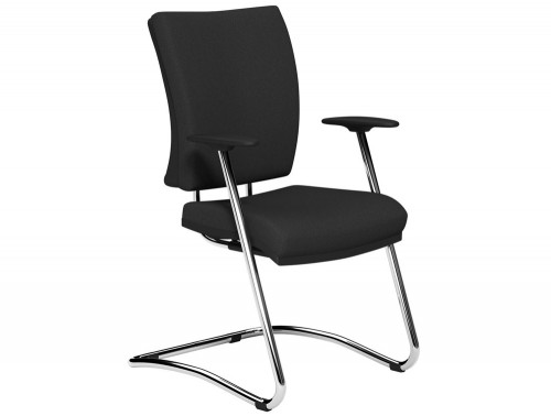 OG3 Mid Backrest Chrome Frame Guest Chair E001 Black