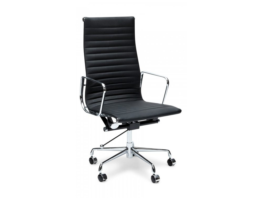 Eames Style Executive High-Back Ribbed Chair