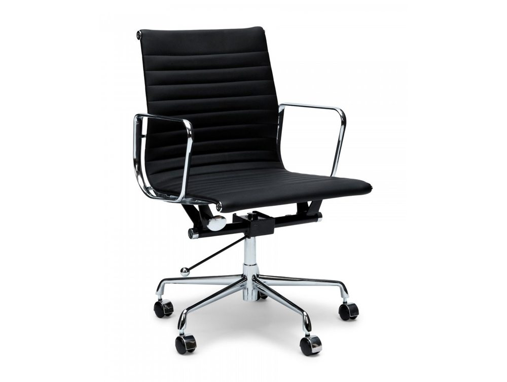 Eames Style Boardroom Mid-Back Ribbed Chair