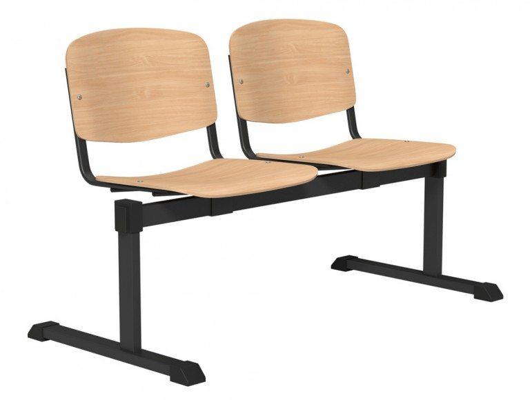 OI Series Bench Beech Wood BLK-2P