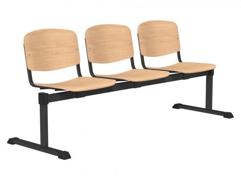 OI Series Bench Beech Wood BLK-3P