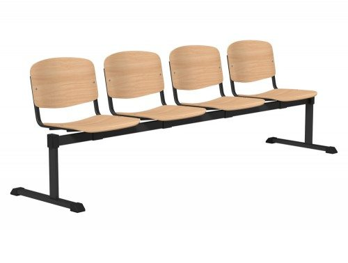 OI Series Bench Beech Wood BLK-4P