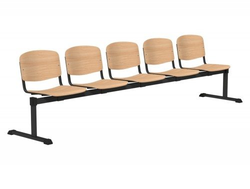 OI Series Bench Beech Wood BLK-5P