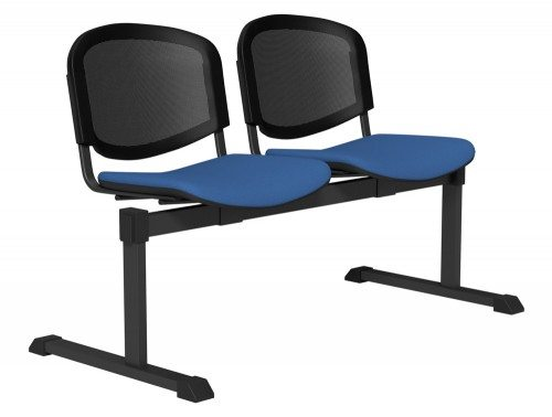 OI Series Bench Mesh Backrest BLK-2P-E032-TKMS1 in E032 Blue