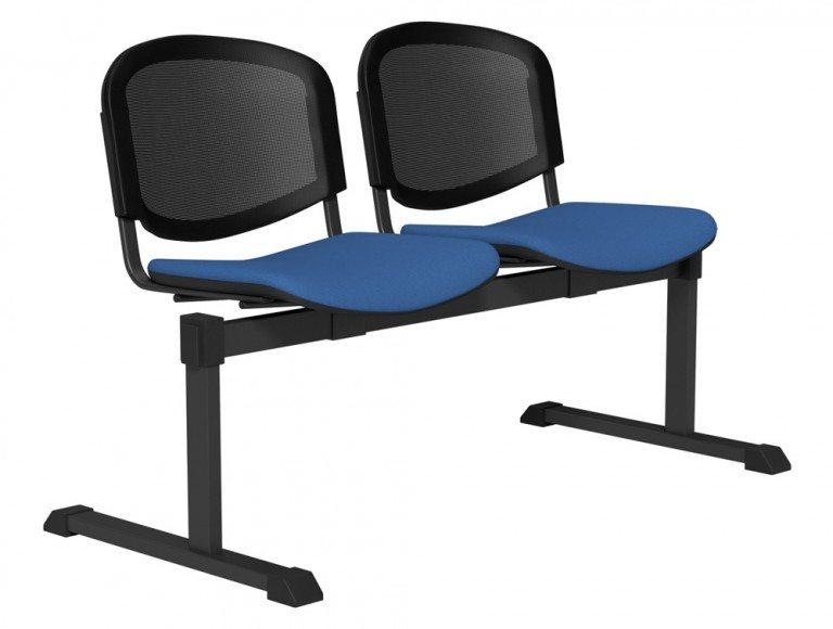 OI Series Bench Mesh Backrest BLK-2P-E032-TKMS1 in E032 Blue