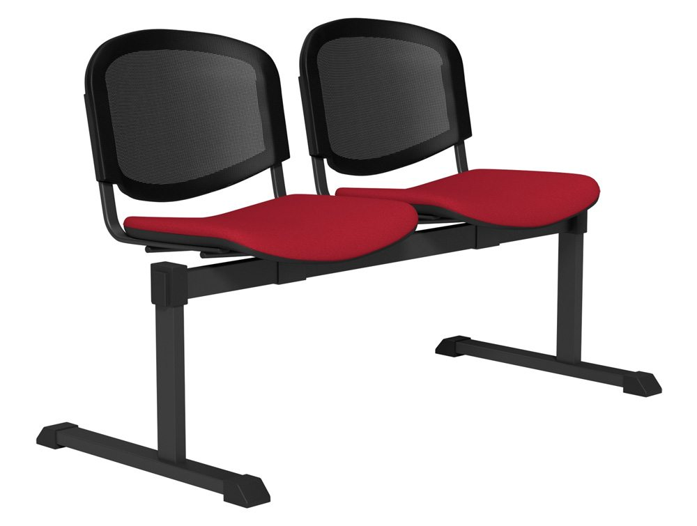 OI Series Bench Mesh Backrest BLK-2P-E090-TKMS1 in E090 Red