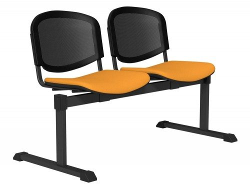 OI Series Bench Mesh Backrest BLK-2P-E112-TKMS1 in E112 Yellow