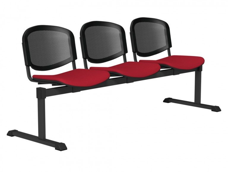 OI Series Bench Mesh Backrest BLK-3P-E090-TKMS1 in E090 Red