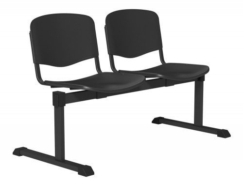 OI Series Bench Plastic BLK-2P-BLK in Black
