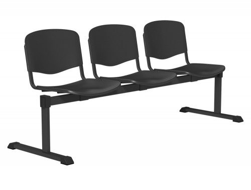 OI Series Bench Plastic BLK-3P-BLK in Black