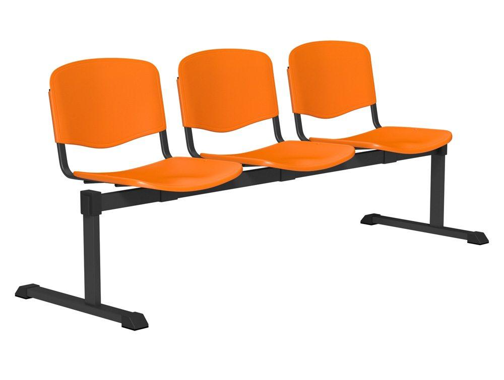 OI Series Bench Plastic BLK-3P-ORG in Orange