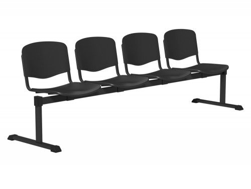 OI Series Bench Plastic BLK-4P-BLK in Black