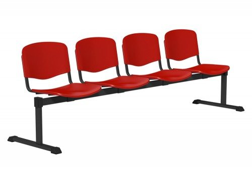 OI Series Bench Plastic BLK-4P-RED in Red