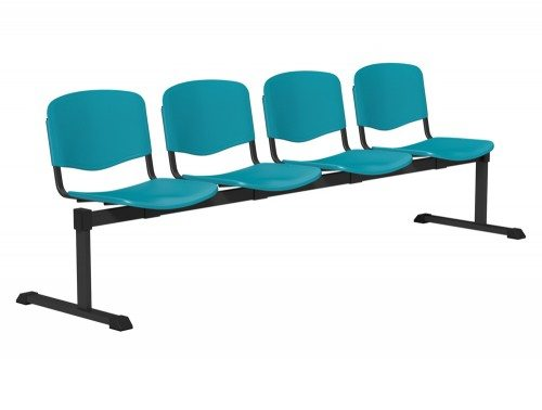 OI Series Bench Plastic BLK-4P-SGR in Sea Green