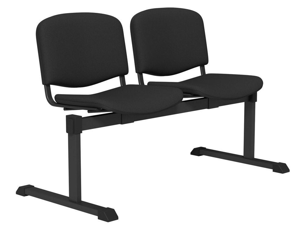 OI Series Bench Upholstered Backrest BLK-2P-E001 in E001 Black