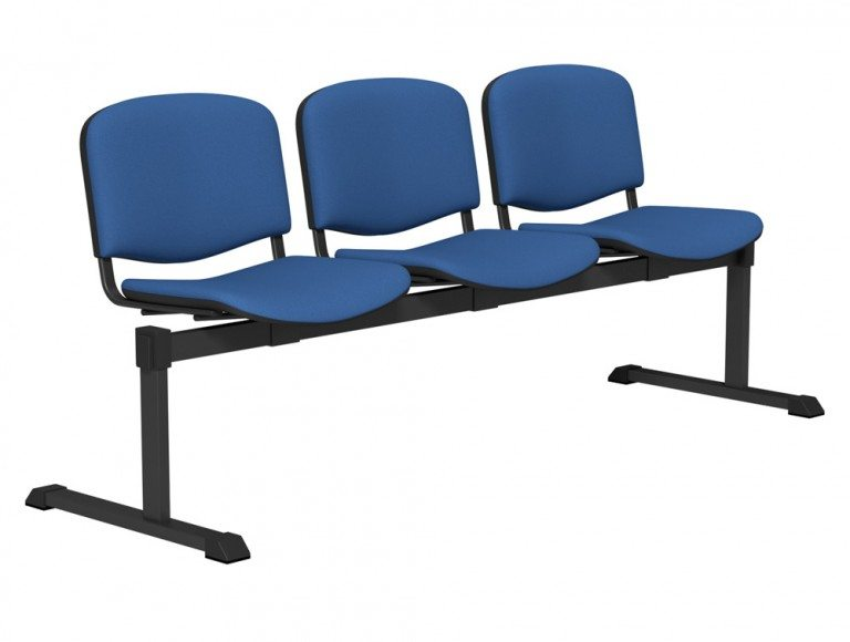OI Series Bench Upholstered Backrest BLK-3P-E032 in E032 Blue