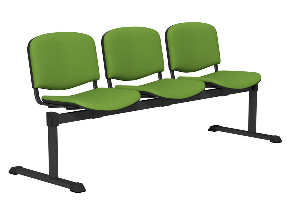 OI Series Bench Upholstered Backrest BLK-3P-E051 in E051 Green