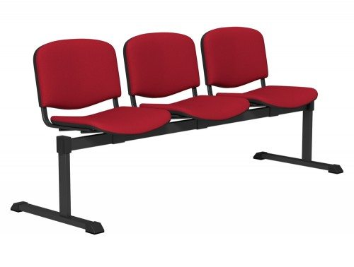 OI Series Bench Upholstered Backrest BLK-3P-E090 in E090 Red