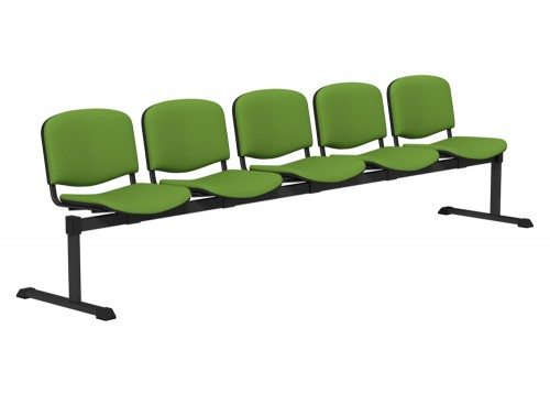 OI Series Bench Upholstered Backrest BLK-5P-E051 in E051 Green