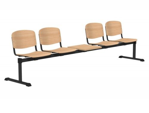 OI Series Bench with Table Beech Wood BE-BLK-5PT