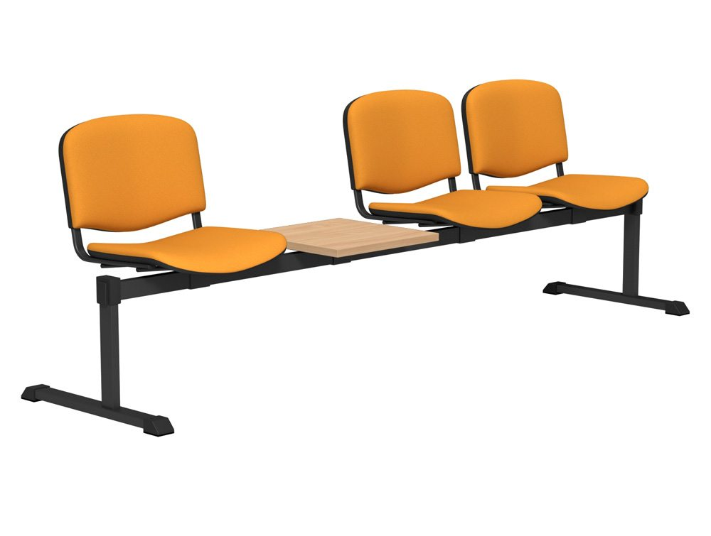 Oi Series Bench Seating With Upholstered Seating And Table
