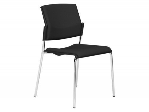 OM Stackable Meeting Conference Chair without Arms in E001 Black