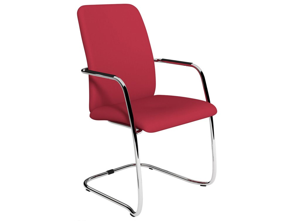 OQ Series High Backrest Red Upholstered Seat Office Chair