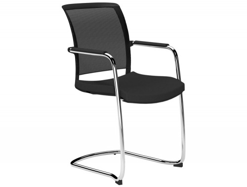 OZ Series Guest Chair Black Mesh E001 Black