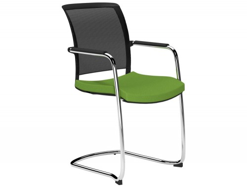 OZ Series Guest Chair Black Mesh E051 Green