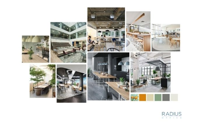 Office Fitout Warm Tones and Olive Green