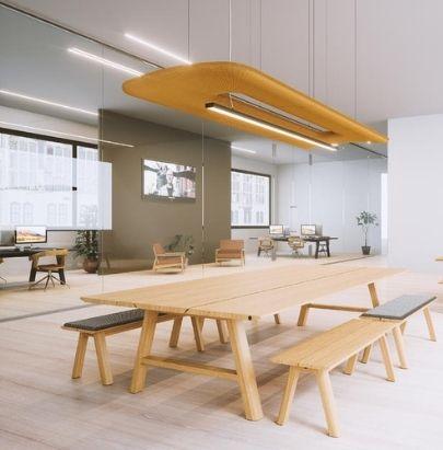 Orange Celing Panel in Canteen Area