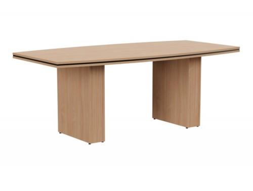 Oskar Barrel Boardroom Table in Beech Finish