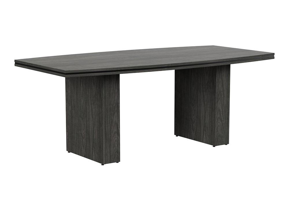 Oskar Barrel Boardroom Table - Carbon Walnut
