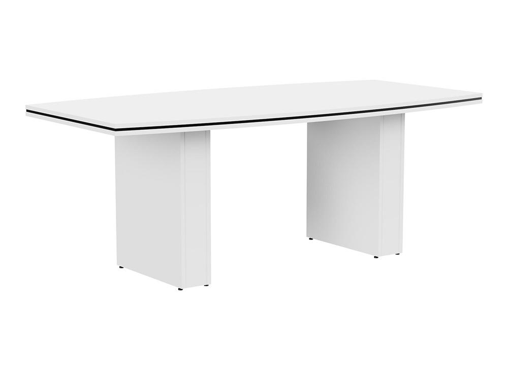 Oskar Barrel Boardroom Table - White