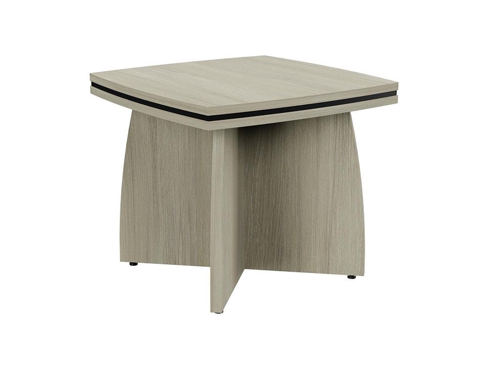 Oskar Coffee Table with Arrowhead Base - Arctic Oak