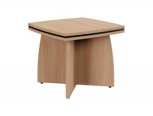 Oskar Coffee Table with Arrowhead Base in Beech