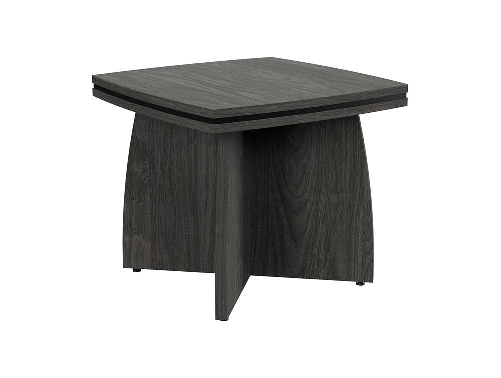 Oskar Coffee Table with Arrowhead Base - Carbon Walnut