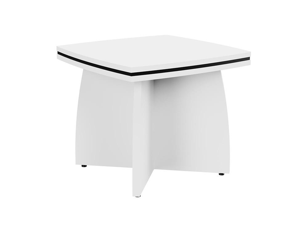 Oskar Coffee Table with Arrowhead Base - White