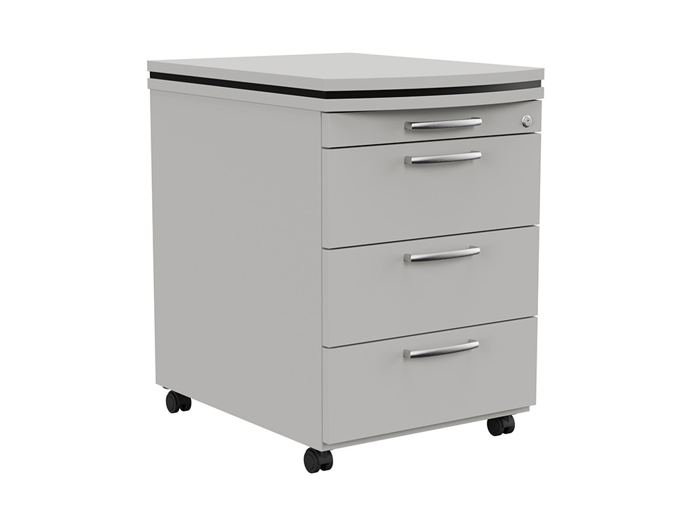 Oskar Executive Masterkey 4 Drawer Mobile Pedestal - Grey