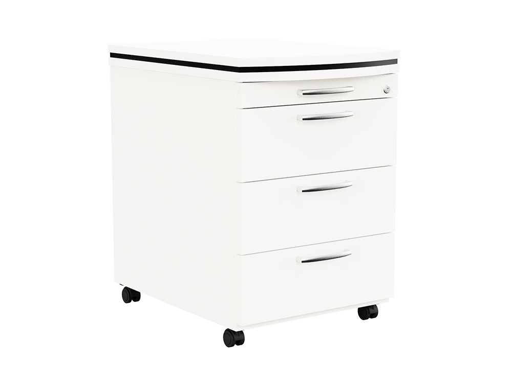 Oskar Executive Masterkey 4 Drawer Mobile Pedestal - White