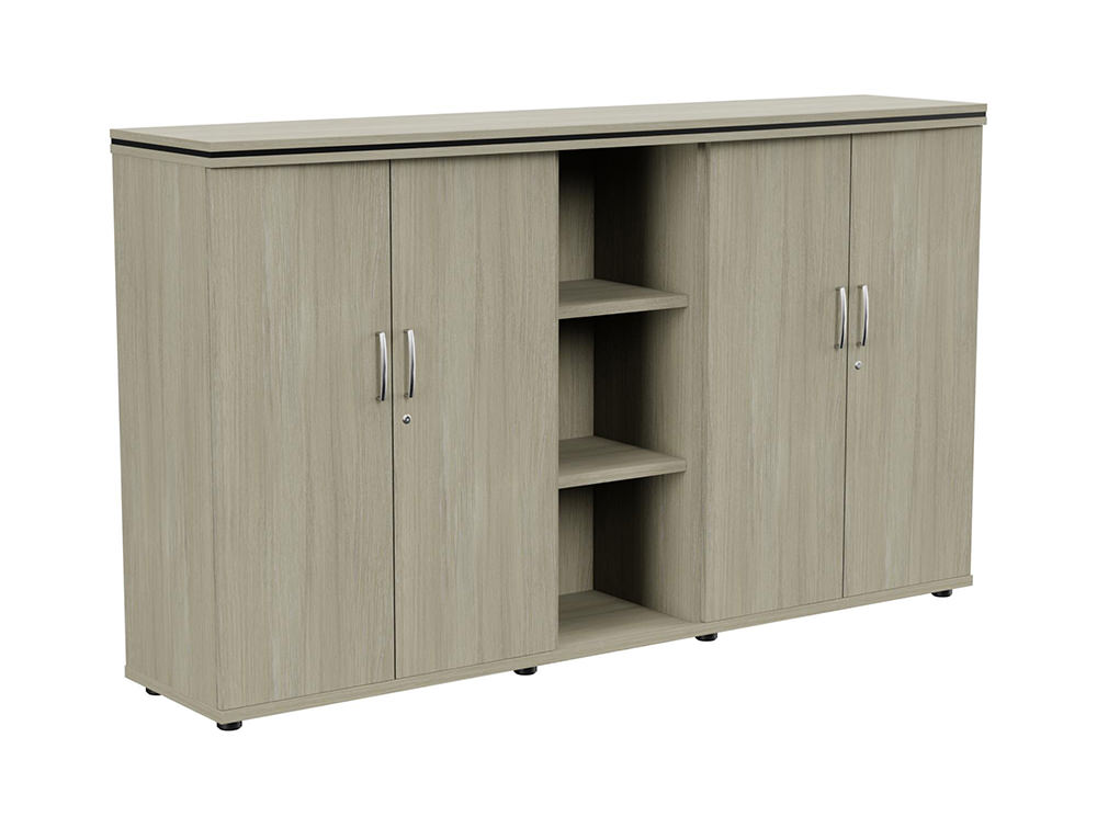 Oskar Part-Open 3-Level Storage Unit - Arctic Oak