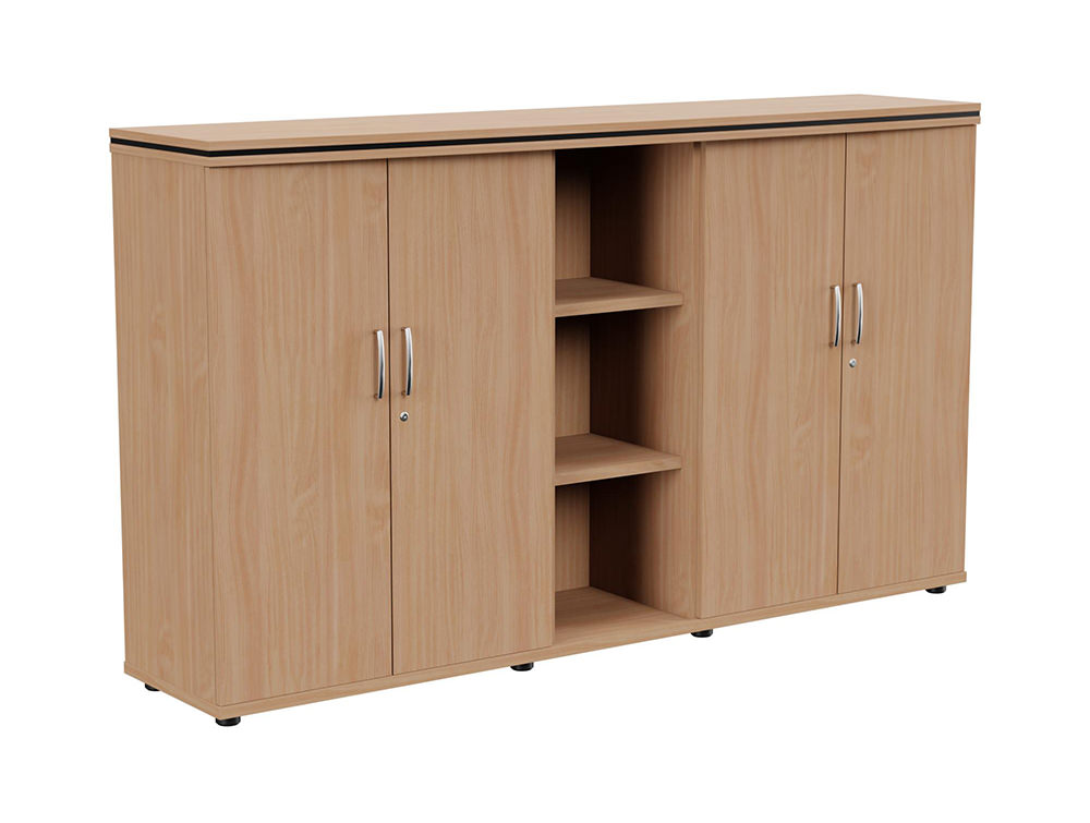 Oskar Part-Open 3-Level Storage Unit - Beech