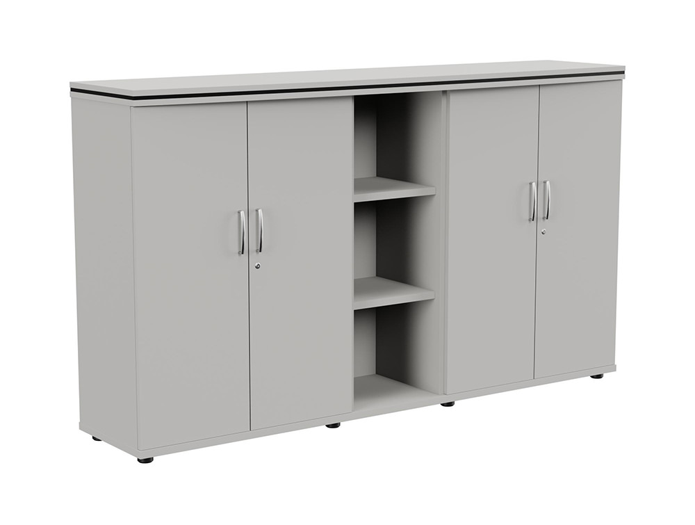 Oskar Part-Open 3-Level Storage Unit - Grey