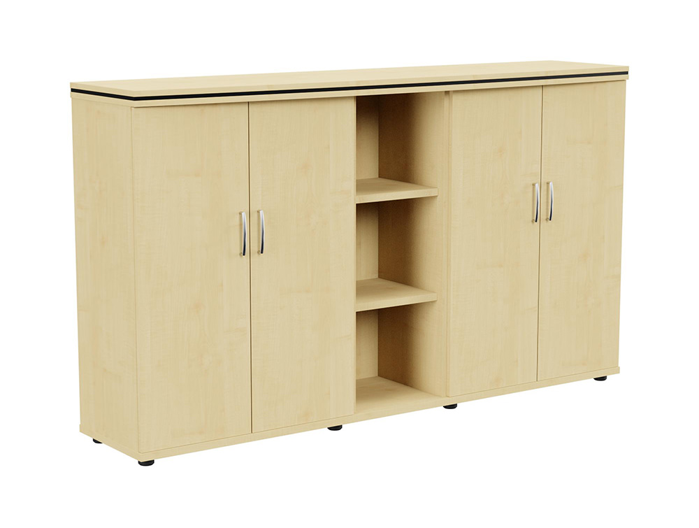 Oskar Part-Open 3-Level Storage Unit - Maple