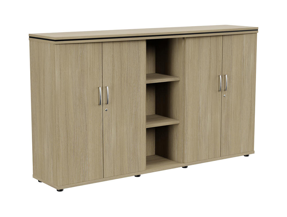 Oskar Part-Open 3-Level Storage Unit - Urban Oak