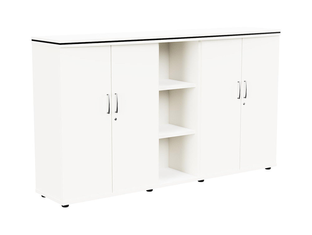Oskar Part-Open 3-Level Storage Unit - White