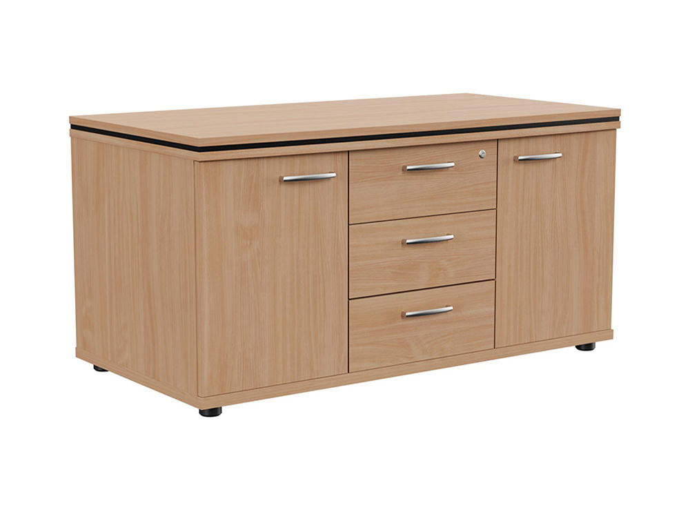 Oskar Sideboard Storage Unit with Drawers - Beech