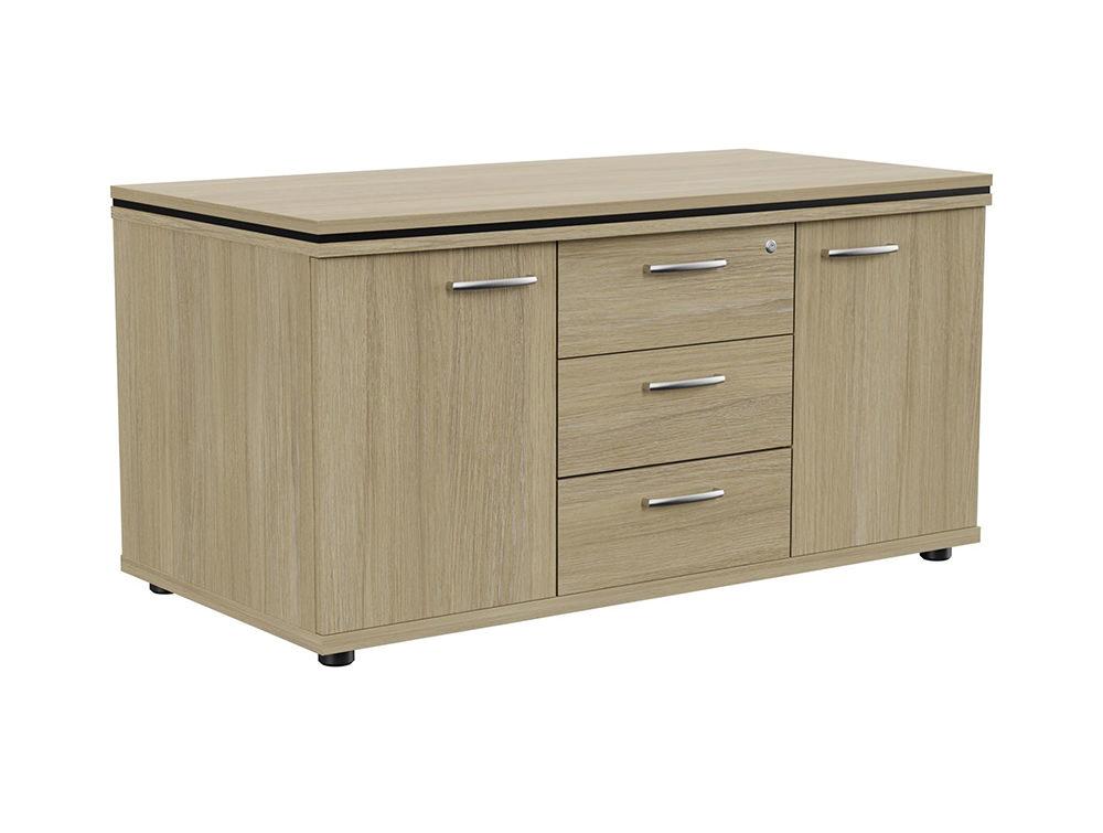 Oskar Sideboard Storage Unit with Drawers - Urban Oak