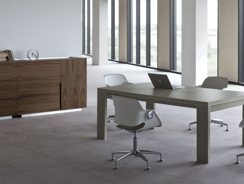Ostin Executive Office Meeting Desk with Cabinets