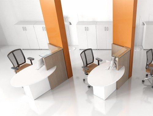 2 Ovo multifunctional small reception desks